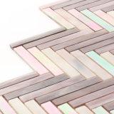 建築材料は台所壁のためのブラウンのタイルのガラスモザイクを卸し売りする