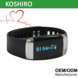Braccialetto di vigilanza astuto di frequenza cardiaca di OLED Bluetooth con ECG