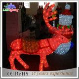 실내 3D 아크릴 큰 옥외 크리스마스 반짝임 순록 훈장 빛