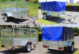 PVC Tarp를 가진 최신 Dipped Galvanised Small Box Trailer