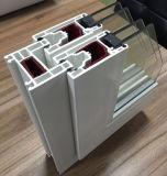 Porte en verre de glissement en plastique économiseuse d'énergie d'UPVC pour des maisons