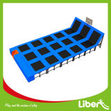Trampoline rectangular con Basketball Hoop
