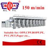 8 Farben-Hochgeschwindigkeitslichtbogen-Systems-Zylindertiefdruck-Drucken-Presse