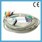 Burdick Eclipse4, Eclipse400, Eclipse800 одно кабель руководства EKG части 10 с Leadwires