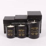 Verschiedene Größen der duftenden Sojabohnenöl-Wachs-Glas-Kerze