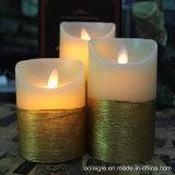 Gelbe Ylickering bewegliche Ölerfilz-Wachs-Kerzen