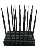 Leistungs-Hemmer für 2g+3G+2.4gwifi + Fernsteuerungs+Gpsl1+Lojack; Justierbarer 14 Antennen-drahtloser Hemmer mit Auto-Aufladeeinheit