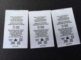 Cosido Impreso raso Cuidado de etiquetas para ropa