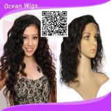 Парик шнурка фронта объемной волны человеческих волос Remy девственницы парика 100% шнурка волос Quercy перуанский (HW-078)