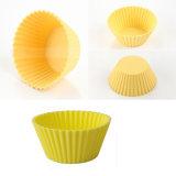 Moule antiadhésif de gâteau de tasse du moule DIY de gâteau de silicone d'outil de Bakeware de catégorie comestible