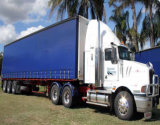 PVCはトラックカバーのためのファブリック防水シートに塗った