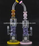 buntes höheres rauchendes Glasrohr des Wasser-16.5inches mit Dusche-Kopf Perc