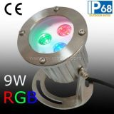 Faro subacuático IP68 RGB LED, RGB LED Fuente de Luz