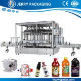 Líquido viscoso del alimento automático y equipo de relleno embotellador de la botella de la goma