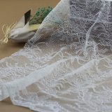 Apparels Accessoriesのための網Voile Warp Knitting Lace Fabrics