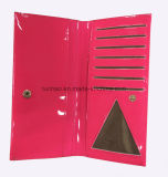 Patentfaux-Leder-einfache konzipierte Karten-Dame Wallet