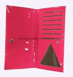 Het glanzende Leer van Pu/Eenvoudige Ontworpen Kaart Dame Wallet