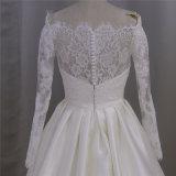 Robe de mariage française de Mikado de lacet de vente chaude