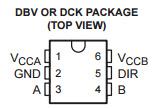 Circuito integrado Sn74lvc1t45dckt do transceptor CI