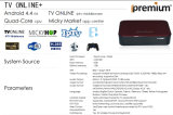 Соедините регулятор игры к коробке Online+ IPTV с свободно коробкой VOD Apps Android франтовской TV