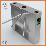 304 torniquete do tripé do acesso do leitor de cartão da gota RFID do braço automático de aço inoxidável