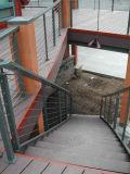 Barandilla inoxidable del alambre de acero/pasamano de acero del cable para las escaleras