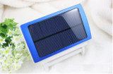 2 em 1 capacidade elevada do carregador solar esperto do banco da potência com lâmpada instantânea