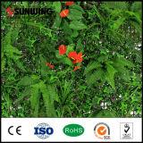 La fleur artificielle verte extérieure de décorations à la maison plante des barrières