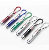 산 Climing 훅을%s 가진 선전용 LED UV Laser Keychain 가벼운 Laser LED keychain