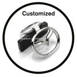 Trousseau de clés rond personnalisé en métal du logo 3D