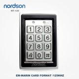 Systeem van het Toegangsbeheer van de Deur van de Kaart van de Nabijheid RFID van het Metaal 125kHz of 13.56MHz van identiteitskaart van Em Standalone