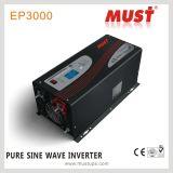 Niederfrequenz weg von Rasterfeld Gleichstrom Inverter zum Wechselstrom-220V 24V 3000watt