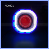 6 options de couleur 10W LED projet de moto Lens Angel Eyes