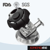 Válvula de diafragma de tres vías de la categoría alimenticia del acero inoxidable (JN-DV1019)