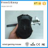 2015 ratos prendidos USB óticos deVenda do jogo do diodo emissor de luz de 6 teclas