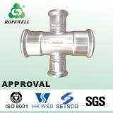 Top Quality Inox Plomberie Sanitaire Acier Inoxydable 304 316 Cross Pipe Fitting