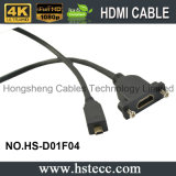 20 mètres de mâle micro de HDMI au câble femelle de support de panneau
