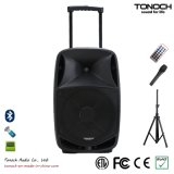 OEM 15 Inches Plastic Trolley Active Speaker con Battery