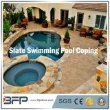 극복하거나 수영장 포장 수영풀을%s 노랗거나 회색 또는 녹스는 자연적인 돌 또는 슬레이트 도와