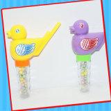 Jouet en plastique d'oiseau de son de sifflement avec le tube de sucrerie