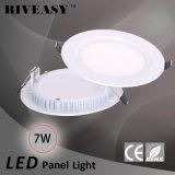 panneau acrylique rond de l'éclairage LED 7W avec des voyants de Ce&RoHS DEL