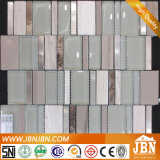 유리 Mix Stainless Steel와 Marble, Piano Keyboard Pattern Mosaic (M855106)