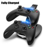 Diodo emissor de luz Fast Charging Adapter Stand Dock Station Charger do USB para o xBox Um Game Controller de Dual