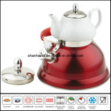 caldaia del fischio del doppio 3L+0.75L con la caldaia multifunzionale del POT di ceramica del tè