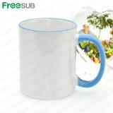 Canecas de café cerâmicas do Sublimation em branco por atacado para a impressão do Sublimation