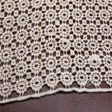 Laço químico do algodão do laço do jacquard para vestuários e fatos