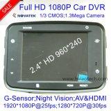 """La cámara más barata del registrador de Digitaces del coche de HD108p con 2.4 """" HD TFT; HDMI hacia fuera; Sistema de pesos americano-hacia fuera; Visión nocturna DVR-2406"""