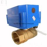 Vávula de bola con motor de cobre amarillo del agua de 2 maneras para la HVAC