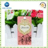 Наиболее наилучшим образом дешево умрите бирки Hang бумаги формы цветка отрезока (JP-HT065)