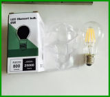 Ampoule de filament de l'ampoule 8W Dimmable LED de filament d'A19/A60 LED